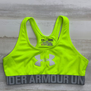 Under Armour  Youth Large neon yellow sports bra